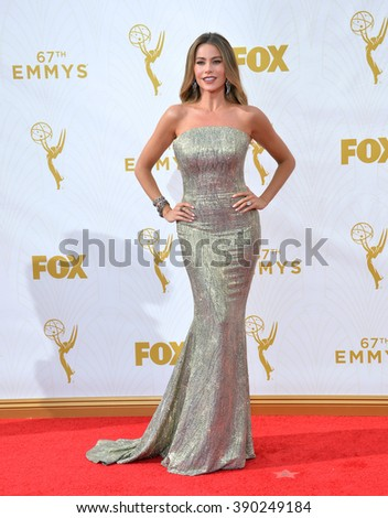 LOS ANGELES, CA - SEPTEMBER 20, 2015: Sofia Vergara at the 67th Primetime Emmy Awards at the Microsoft Theatre LA Live.