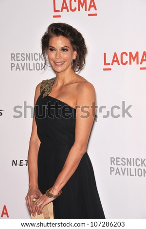 LOS ANGELES, CA - SEPTEMBER 25, 2010: Teri Hatcher at a benefit gala at  LACMA for the opening of  The Lynda & Stewart Resnick Exhibition Pavilion in Los Angeles, CA.