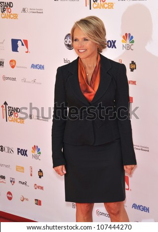 LOS ANGELES, CA - SEPTEMBER 10, 2010: TV news anchor Katie Couric at the Stand Up To Cancer event at Sony Pictures Studios, Culver City.