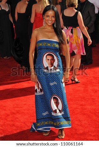 LOS ANGELES, CA - SEPTEMBER 20, 2009: Victoria Rowell at the 61st Primetime Emmy Awards at the Nokia Theatre L.A. Live.