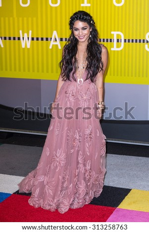 LOS ANGELES, CA/USA - AUGUST 30 2015: Vanessa Hudgens attends the 2015 MTV Video Music Awards at Microsoft Theater.