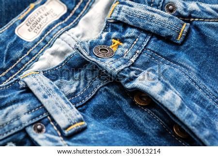 Los Angeles, CA, USA - January 10, 2015: Close-up of Pepe Jeans - stock photo