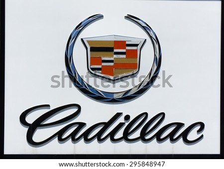cadillac logo 2015. los angeles causa july 11 2015 cadillac sign and logo