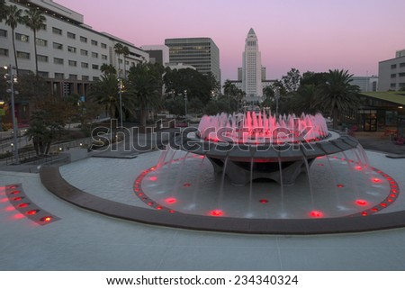 Los Angeles, California at City Hall.  - stock photo