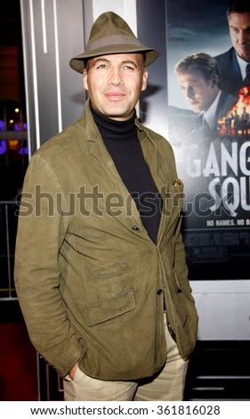 LOS ANGELES, CALIFORNIA - January 7, 2013. Billy Zane at the Los Angeles premiere of 'Gangster Squad' held at the Grauman's Chinese Theatre in Los Angeles.   - stock photo