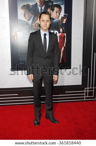 LOS ANGELES, CALIFORNIA - January 7, 2013. Giovanni Ribisi at the Los Angeles premiere of 'Gangster Squad' held at the Grauman's Chinese Theatre in Los Angeles.   - stock photo