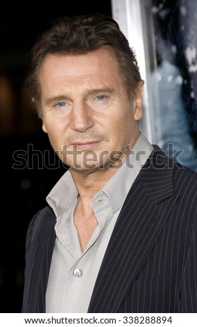 "LOS ANGELES, CALIFORNIA - January 11, 2012. Liam Neeson at the Los Angeles premiere of ""The Grey"" held at the Regal Cinemas Theater, Los Angeles."