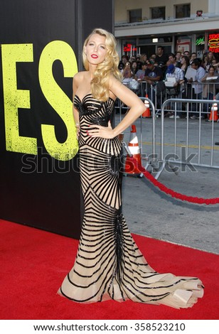 LOS ANGELES, CALIFORNIA - June 25, 2012. Blake Lively at the Los Angeles premiere of 'Savages' held at the Mann Village Theatre, Los Angeles.   - stock photo