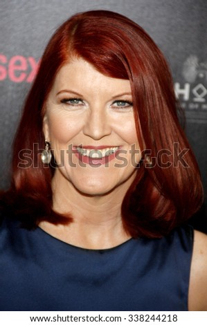 LOS ANGELES, CALIFORNIA - May 23, 2012. Kate Flannery at the 37th Annual Gracie Awards Gala held at the Beverly Hilton Hotel, Los Angeles.   - stock photo