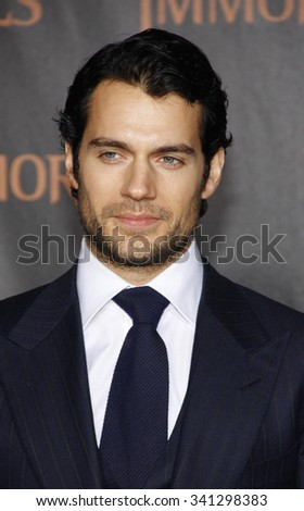 "LOS ANGELES, CALIFORNIA - November 7, 2011. Henry Cavill at the World premiere of ""Immortals"" held at Nokia LA Live, Los Angeles."