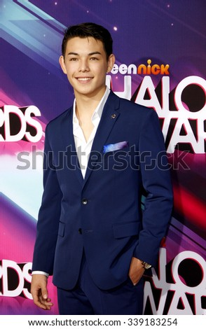 LOS ANGELES, CALIFORNIA - November 17, 2012. Ryan Potter at the 2012 Halo Awards held at the Hollywood Palladium in Los Angeles.
