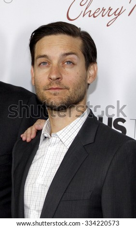 LOS ANGELES, CALIFORNIA - October 29, 2012. Tobey Maguire at the Los Angeles premiere of 'The Details' held at the ArcLight Cinemas in Los Angeles.