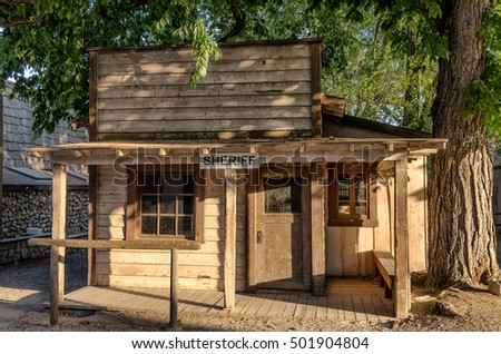 Los Angeles, California. September 6, 2012. Sheriff office at Western Town featured in movies at Paramount Ranch.