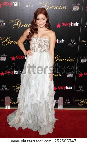 LOS ANGELES, CALIFORNIA - Tuesday May 23, 2012. Ariel Winter at the 37th Annual Gracie Awards Gala held at the Beverly Hilton Hotel, Los Angeles.