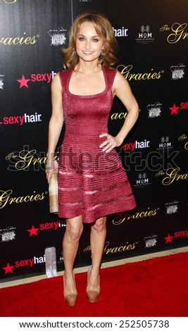LOS ANGELES, CALIFORNIA - Tuesday May 23, 2012. Giada de Laurentiis at the 37th Annual Gracie Awards Gala held at the Beverly Hilton Hotel, Los Angeles. - stock photo