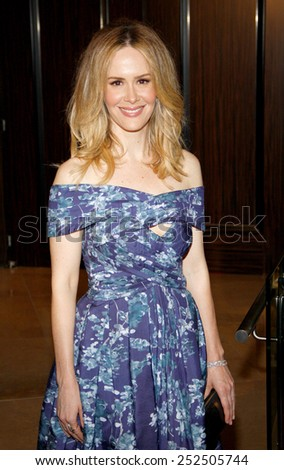 LOS ANGELES, CALIFORNIA - Tuesday May 23, 2012. Sarah Paulson at the 37th Annual Gracie Awards Gala held at the Beverly Hilton Hotel, Los Angeles.  - stock photo
