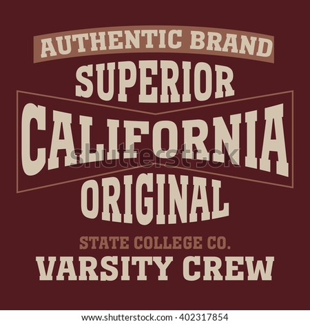 Los angeles California typography, t-shirt graphics