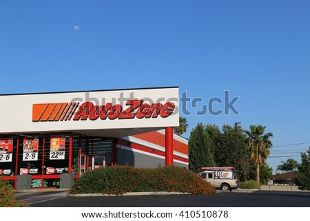 Los Angeles, California, USA - April 18, 2016: Autozone is the second-largest aftermarket automotive parts and accessories retailer in the United States. - stock photo
