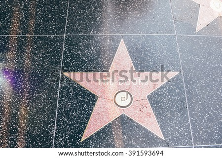 LOS ANGELES - CIRCA 2011: The Doors star on the Walk of Fame on Hollywood Boulevard in downtown Los Angeles, California, USA circa summer 2011.