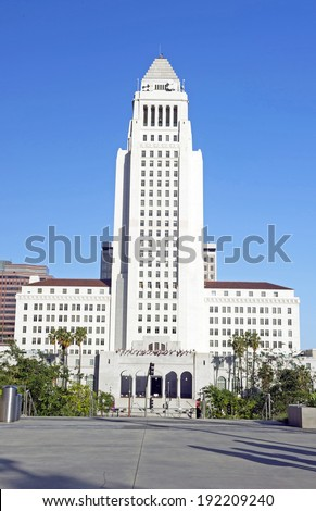 Los Angeles City Hall, Downtown Civic Center  - stock photo