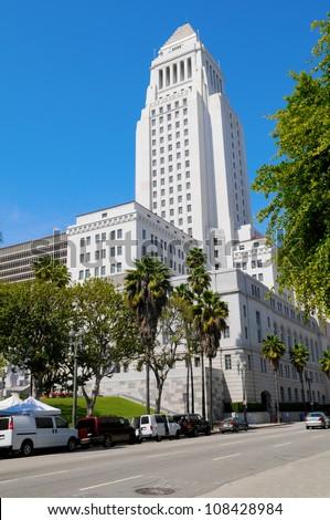 Los Angeles City Hall, US - stock photo