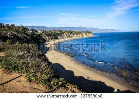 Los Angeles Cliffs at Dome Beach - stock photo