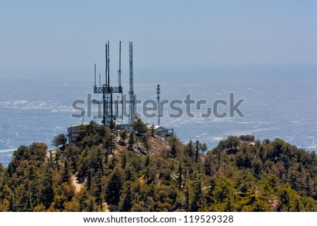 LOS ANGELES COUNTY, CA/USA - May 29: Mount Wilson Observatory is 5,715-foot peak in the San Gabriel Mountains, nearof Los Angeles. The Observatory site began operation in 1917. May 29, 2010