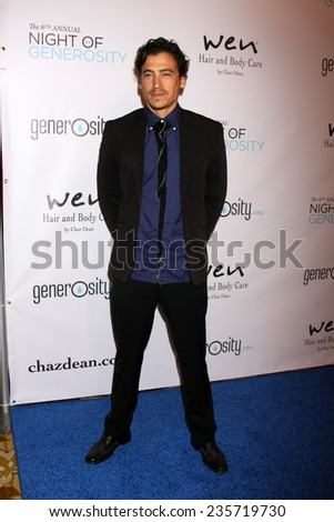 LOS ANGELES - DEC 5:  Andrew Keegan at the 6th Annual Night Of Generosity at the Beverly Wilshire Hotel on December 5, 2014 in Beverly Hills, CA