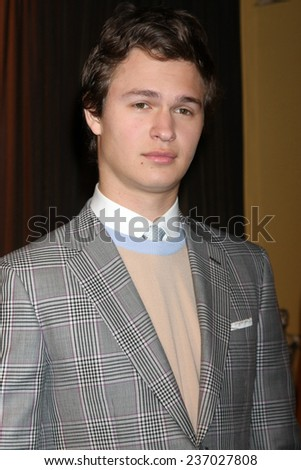 LOS ANGELES - DEC 10:  Ansel Elgort at the 21st Annual Screen Actors Guild Awards Nominations Announcement at the Pacific Design Center on December 10, 2014 in West Hollywood, CA - stock photo