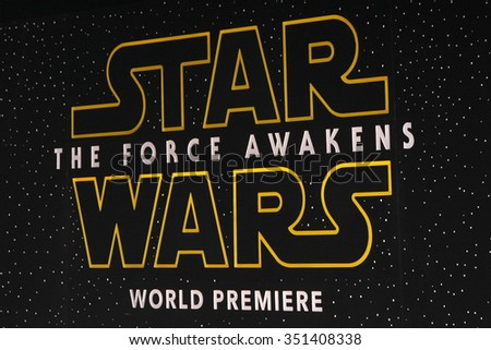 LOS ANGELES - DEC 14:  Atmosphere at the Star Wars: The Force Awakens World Premiere at the Hollywood & Highland on December 14, 2015 in Los Angeles, CA - stock photo