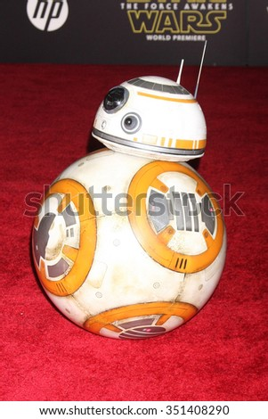 LOS ANGELES - DEC 14:  BB-8 at the Star Wars: The Force Awakens World Premiere at the Hollywood & Highland on December 14, 2015 in Los Angeles, CA - stock photo