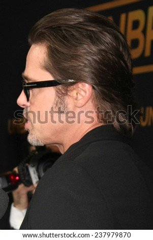 "LOS ANGELES - DEC 15:  Brad Pitt at the ""Unbroken"" - Los Angeles Premiere at the Dolby Theater on December 15, 2014 in Los Angeles, CA"