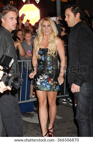 LOS ANGELES - DEC 6 - Britney Spears arrives at the X Factor Viewing Party  on December 6, 2012 in Los Angeles, CA              - stock photo