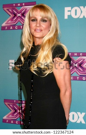 LOS ANGELES - DEC 19:  Britney Spears at the 'X Factor' Season Finale performances  show taping at CBS Television City on December 19, 2012 in Los Angeles, CA - stock photo