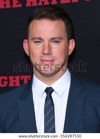 "LOS ANGELES - DEC 07:  Channing Tatum arrives to the ""The Hateful Eight"" Los Angeles Premiere  on December 07, 2015 in Hollywood, CA.                 - stock photo"