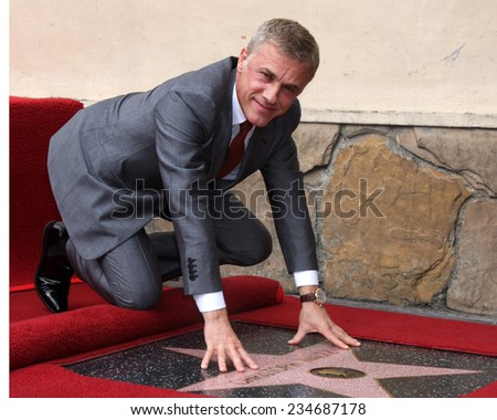 LOS ANGELES - DEC 1:  Christoph Waltz at the Christoph Waltz Hollywood Walk of Fame Star Ceremony at the Hollywood Boulevard on December 1, 2014 in Los Angeles, CA - stock photo