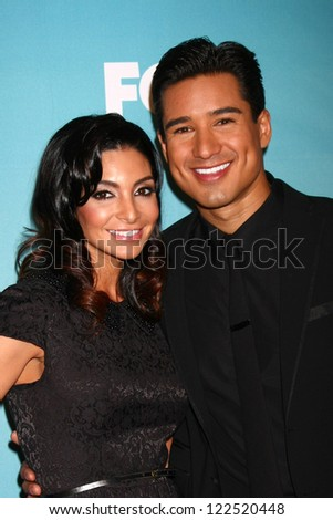 LOS ANGELES - DEC 20:  Courtney Mazza, Mario Lopez at the 'X Factor' Season Finale at CBS Television City on December 20, 2012 in Los Angeles, CA - stock photo