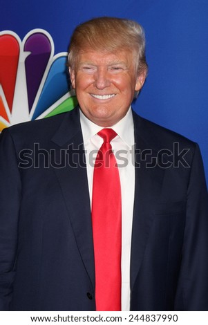 LOS ANGELES - DEC 16:  Donald Trump at the NBCUniversal TCA Press Tour at the Huntington Langham Hotel on December 16, 2015 in Pasadena, CA - stock photo