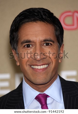 LOS ANGELES - DEC 11:  Dr. Sanjay Gupta arrives to the CNN Heroes: All-Star Tribute 2011  on December 11, 2011 in Los Angeles, CA.