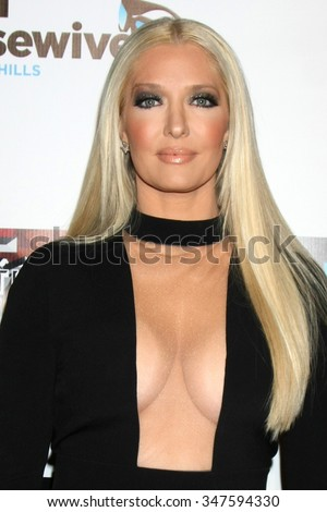 LOS ANGELES - DEC 3:  Erika Girardi at theThe Real Housewives of Beverly Hills Premiere Red Carpet 2015 at the W Hotel Hollywood on December 3, 2015 in Los Angeles, CA - stock photo