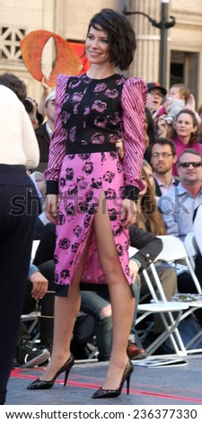 LOS ANGELES - DEC 8:  Evangeline Lilly at the Peter Jackson Hollywood Walk of Fame Ceremony at the Dolby Theater on December 8, 2014 in Los Angeles, CA - stock photo