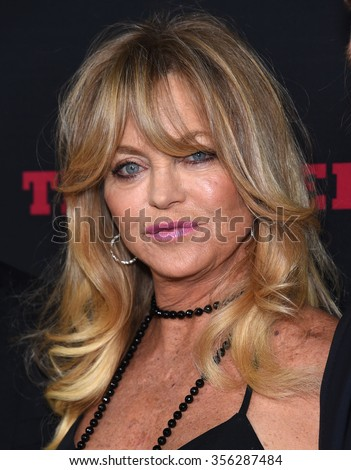 "LOS ANGELES - DEC 07:  Goldie Hawn arrives to the ""The Hateful Eight"" Los Angeles Premiere  on December 07, 2015 in Hollywood, CA.                 - stock photo"