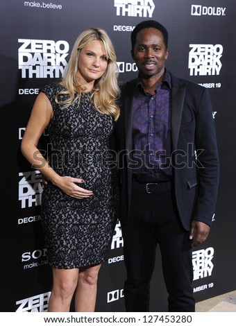 "LOS ANGELES - DEC 09:  Harold Perrineau & Brittany arrives to the ""Zero Dark Thirty"" LA Premiere  on December 09, 2012 in Hollywood, CA"