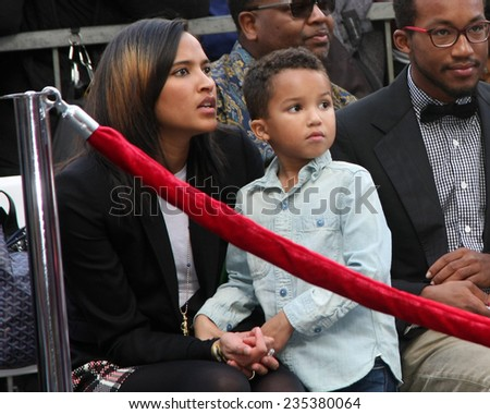 LOS ANGELES - DEC 4:  Helen Lasichanh, Rocket Ayer Williams at the Pharrell Williams Hollywood Walk of Fame Star Ceremony at the W Hotel Hollywood on December 4, 2014 in Los Angeles, CA - stock photo