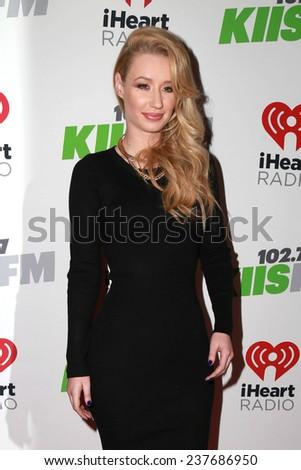LOS ANGELES - DEC 5:  Iggy Azalea at the KIIS FM's Jingle Ball 2014 at the Staples Center on December 5, 2014 in Los Angeles, CA - stock photo