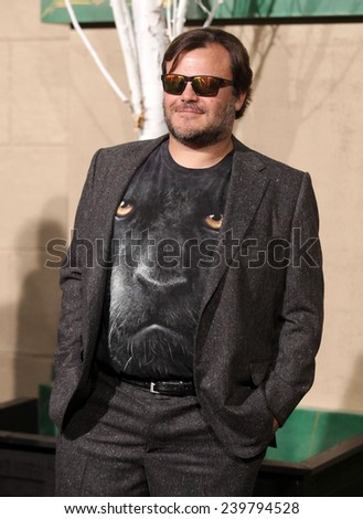 "LOS ANGELES - DEC 09:  Jack Black  arrives to the ""The Hobbit: The Battle Of The Five Armies"" Los Angeles Premiere  on December 9, 2014 in Hollywood, CA"