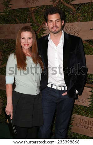 "LOS ANGELES - DEC 3:  Julianne Morris, Kristoffer Polaha at the Opening night of Oregon Shakespeare Festival ""Into the Woods"" at the Wallis Annenberg Center on December 3, 2014 in Beverly Hills, CA - stock photo"