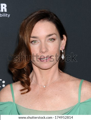 "LOS ANGELES - DEC 16:  Julianne Nicholson arrives to the ""August: Osage County"" Los Angeles Premiere  on December 16, 2013 in Los Angeles, CA                 - stock photo"