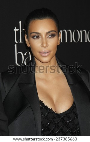 LOS ANGELES - DEC 11:  Kim Kardashian West at the Rihanna's First Annual Diamond Ball at the The Vineyard on December 11, 2014 in Beverly Hills, CA - stock photo