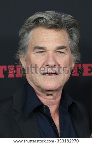 """LOS ANGELES - DEC 7:  Kurt Russell at the """"The Hateful Eight"""" LA Premiere at the ArcLight Cinemas Cinerama Dome  on December 7, 2015 in Los Angeles, CA - stock photo"""